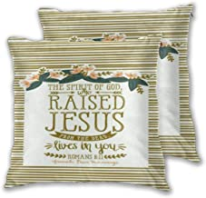 AW-KOCP Pack of 2 Christian Bible Verses Decorative Throw Pillow Covers for Bed Pillows, Many Pattern & Size Options