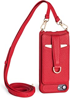 Vaultskin Winsor Red Victoria Crossbody iPhone Leather Wallet Case
