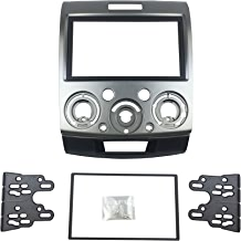 DKMUS Double Din Radio Stereo Dash Install Mount Trim Kit for Mazda Bt-50 2006 up Ford Ranger 2006-2010 Everest 2006 up Fascia Include in 173*98mm and 178*102mm Opening Frames