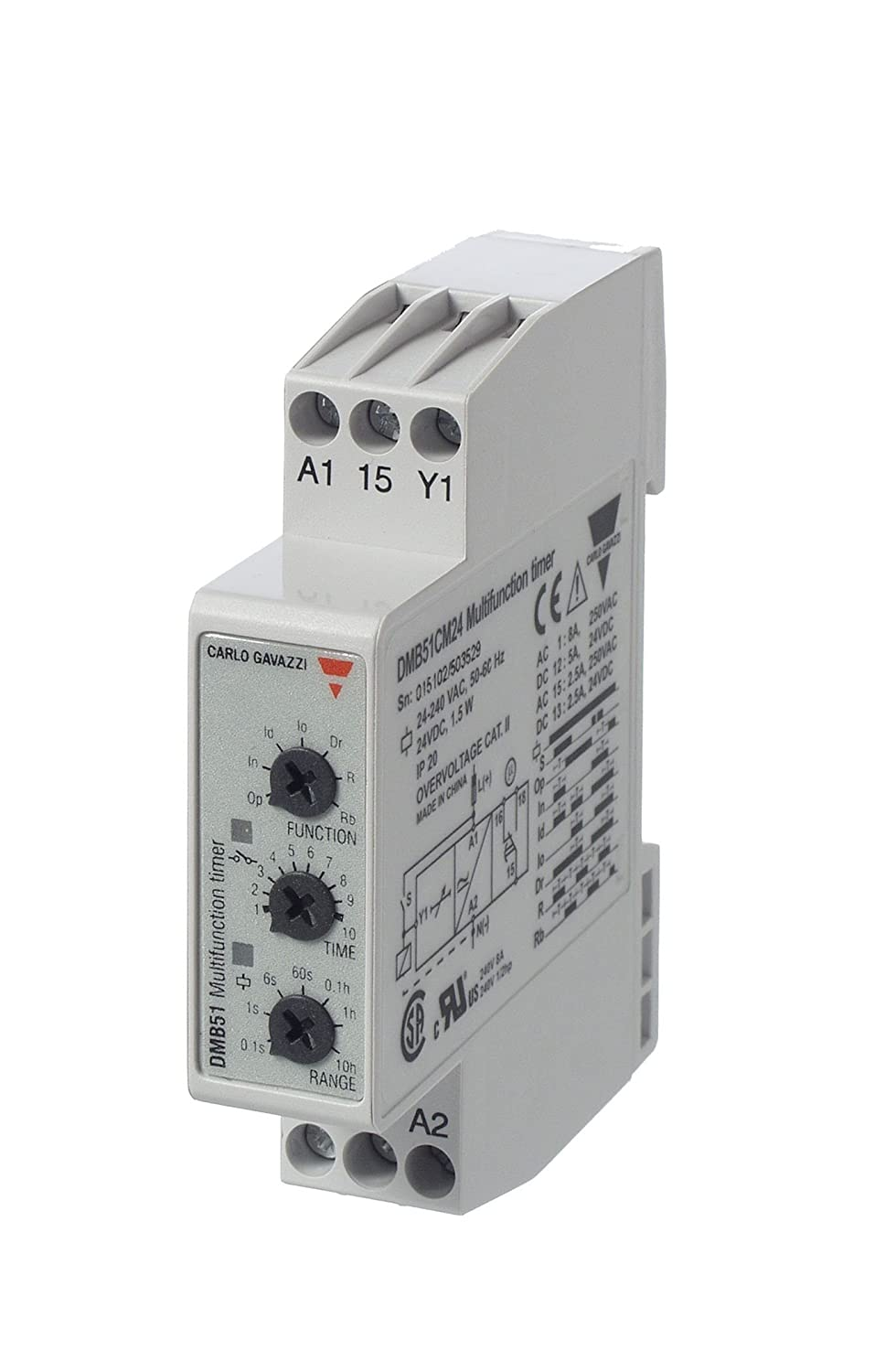 CARLO GAVAZZI DMB51CM24 Mini Multi 17.5 mm Timer Function Selling Max 40% OFF and selling Slim