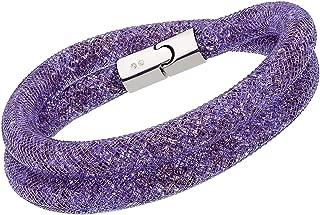 Swarovski Stardust 5120044 Purple Crystals Double wrap Bracelet - M