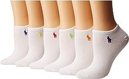 6-Pack Flat Knit Ultra Low Cut Socks