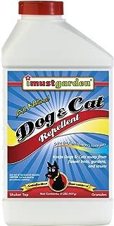 I Must Garden Dog and Cat Repellent: All Natural Granular Stops Digging in Gardens, Flower Beds, Pots, and Lawns – 2lb Easy Shaker Jar