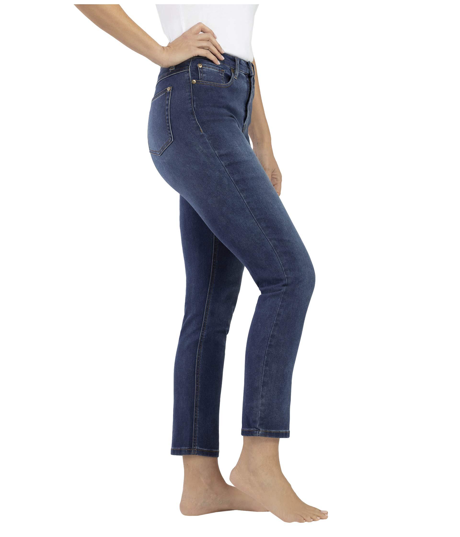 Ropa Pantalones De Mezclilla Tribal Five Pocket High Rise Slim In Retro Blue Retro Blue