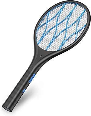 Intelabe Bug Zapper, Mosquito Killer USB Rechargeable Electric Fly Swatter for Home, Outdoor, Powerful 4000V Grid, Detachable