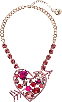 Betsey Johnson - Pink Heart Pendant Necklace