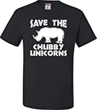 Best Go All Out Adult Save The Chubby Unicorns Funny Rhino T-Shirt Review