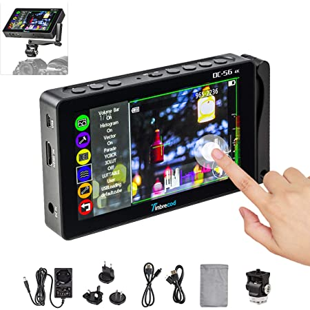 7 inch DC-80 HD 4K Camera Video Field Monitor Built-in Rechargeable Battery HDMI Input Output Include Magic Arm