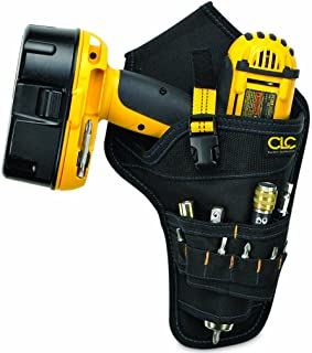 CLC Custom Leathercraft 5023 Deluxe Cordless Poly Drill Holster, Black