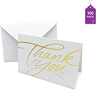 Thank You Cards- Bulk Pack With Envelopes, Greeting Cards With Hot Stamp