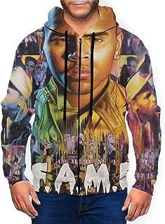 RobertRCastleberry Chris Brown F.A.M.E. Zipper Shirt Men`s Hoodie Sweatshirt Jacket Fashion Hoodies Sweater