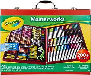 Crayola 绘儿乐 艺术名作礼盒 200 多件画笔套装 送给孩子的礼物 (亚马逊特别版)