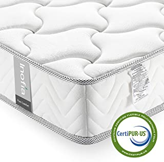 Full Mattress 8 Inch, Inofia Full Size Bed Mattress in a Box, Cool Memory Foam, CertiPUR-US Certified, Comfort Body Supportive & Pressure Relief, No-Risk 100 Night Trial