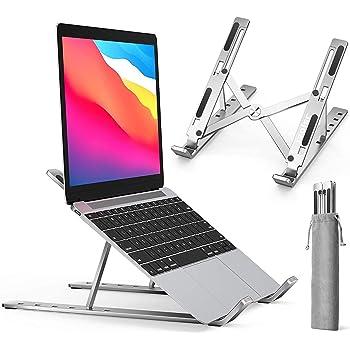 ノートパソコン スタンド PCスタンド改良 折りたたみ式 iVoler タブレット スタンドラップトップスタンド 高さ・角度調整可能 アルミ合金 pc スタンド 軽量PC/MacBook/ラップトップ/iPad/タブレット (金属) ノートpc スタンド パソコン スタンド
