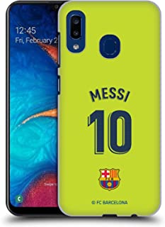 Official FC Barcelona Lionel Messi 2018/19 Players Away Kit Group 1 Hard Back Case Compatible for Samsung Galaxy A20 / A30 (2019)