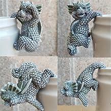 Yoohh Dinosaurus Babypop, 4 STKS Hars Dinosaurussen Beeldjes Opknoping Cup Model Dragon Accessoires Weerbestendige Bloempo...