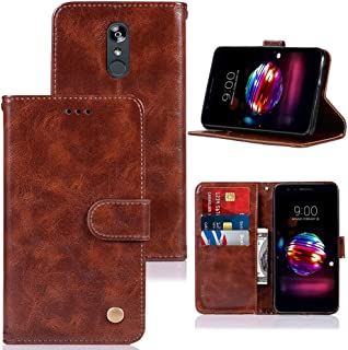 Case for LG Aristo 2/LG Tribute Empire/LG Tribute Dynasty/Aristo 3/ Rebel 3 L158VL/LG Rebel 4 LTE, Zoeirc PU Leather Wallet Flip Protective Case Cover with Card Slots and Stand (Browm)