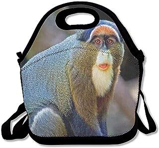 再利用可能なランチバッグブラザのモンキーフードハンドバッグカスタムランチホルダープリントランチトートバッグ大人と子供のための多機能ランチボックスオーガナイザー