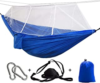 JIA-WALK Ultralight Outdoor Camping Hunting Mosquito Net Parachute Hammock 2 Person Garden Hanging Bed Leisure
