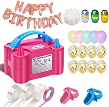 Balloon Pump, 160pcs Party Balloons 12 Inches Kit (100 Pack), Portable Dual Nozzle 110V 600W With Tying Tools, Colored Rib...