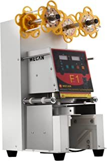 VEVOR Fully Automatic Sealing 500~650 H Cup Machine Digital Control LCD Panel for Bubble Milk Tea Coffee Smoothies Sealer, White