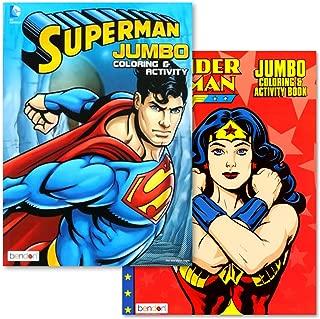 DC Comics Justice League Super Hero Coloring Books Activity Set Bundle Featuring Wonder Woman & Superman