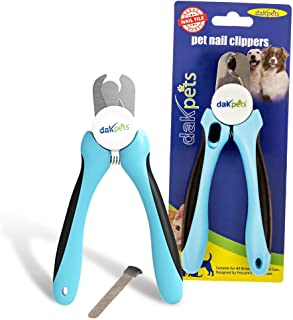 Best Dog Nail Clippers and Trimmer by DakPets - Easy to use Dog Nail Trimmer and Toenail Clippers - Razor Sharp Blades - S...