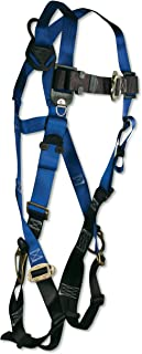 FallTech 7017 Contractor Full Body Harness with 3 D-Rings and Mating Buckle Leg Straps, Universal Fit