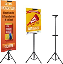 T-SIGN Double-Sided Tripod Banner Stand, Heavy Duty Poster Stand, Adjustable Floor Standing Sign Stand Up to 79.9 inches for Board Sign Holder Display