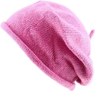 UBI//NYH Princess Girls Mohair Newsboy Cap-Hot Pink