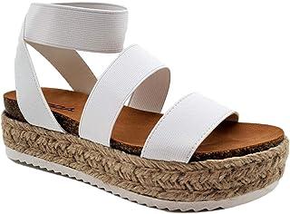 Spring Women's Espadrille Cork Platform Wedge Ankle Strap Sandal