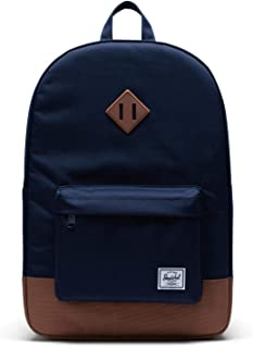 Herschel Heritage Backpack, Peacoat/Saddle Brown, Classic 21.5L