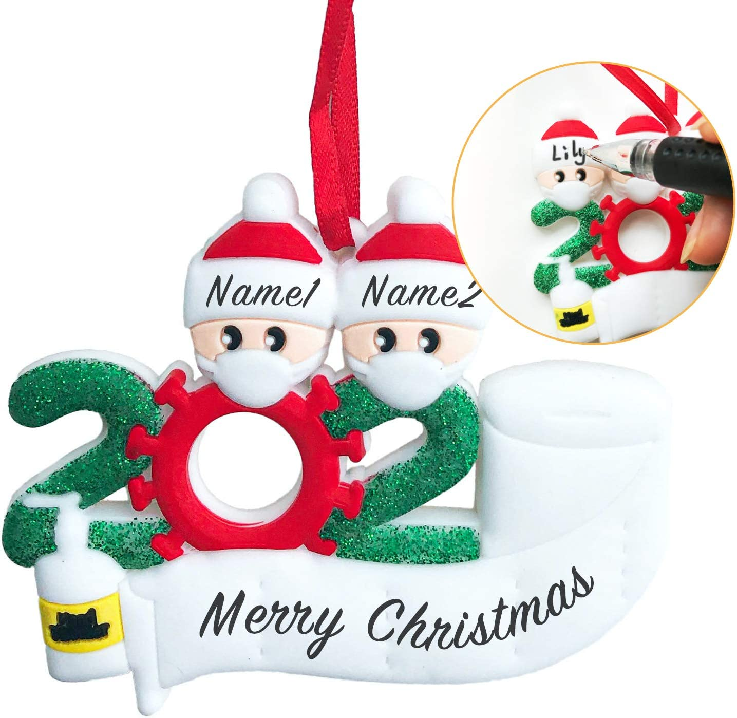 ZSXIN Personalized 2020 Christmas Ornament Ranking TOP3 Paper with Max 58% OFF Kit Toilet