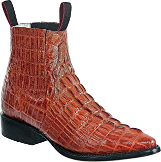 Western Shops Mens Leather Cowboy Boots Crocodile...