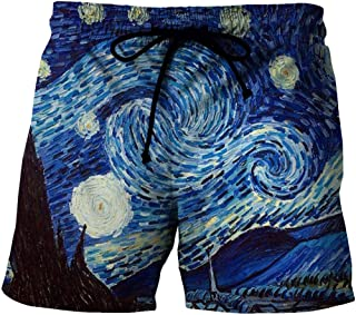 Men'S Shorts 3/4 Quick-Drying Beach Shorts 3D Printed Casual
