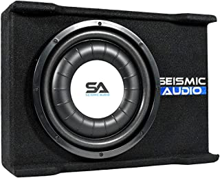 $133 » Sponsored Ad - Seismic Audio - SA-SSCS12 - Shallow Mount 12 Inch 600 Watt Car Truck Audio Subwoofer Enclosure for Tight Sp...