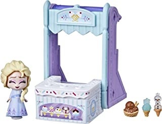 Disney Frozen 2 Twirlabouts Series 1 Elsa Sled to Shop Playset, Includes Elsa Doll and Accessories, Toy for Kids 3 and Up
