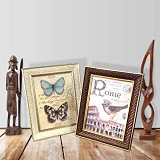 Art street Royal Memories Set of 2 Table Photo Frame with Stand for Table top - 5 X7 Inches Photo Size
