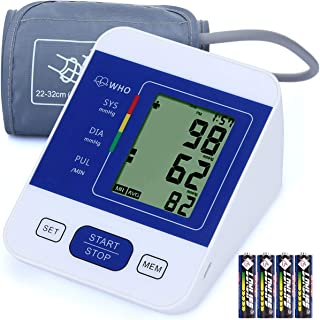 Blood Pressure Monitor, CAZON Automatic Home Blood Pressure Monitor, Large-Screen Display, Adjustable Cuff, 2 * 99 Memory Storage Precision Blood Pressure Monitor Suitable for Monitoring Health