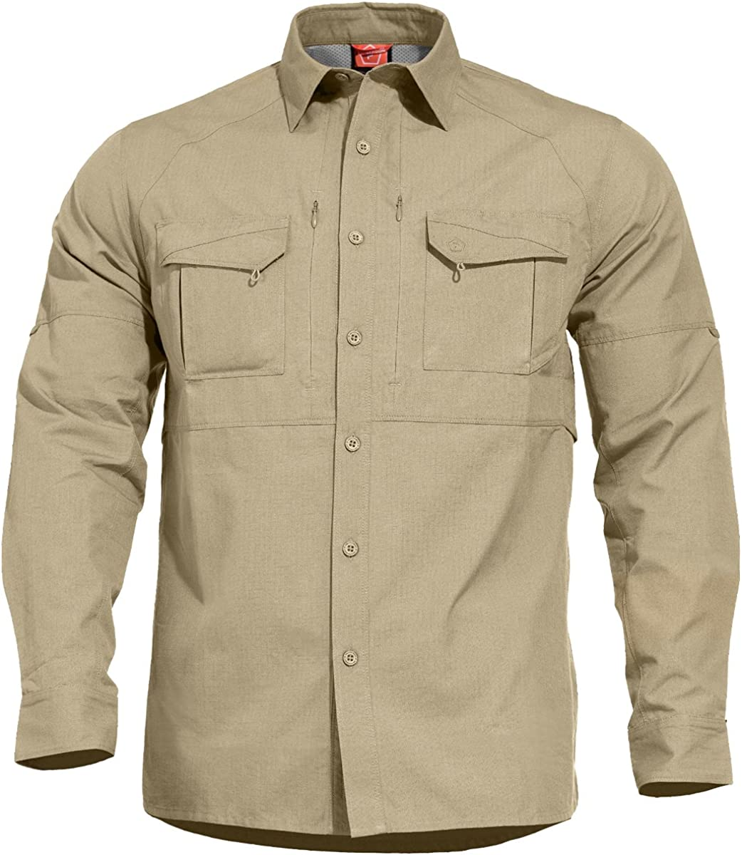 Pentagon Hombres Chase Táctico Camisa Camo Green: Amazon.es ...
