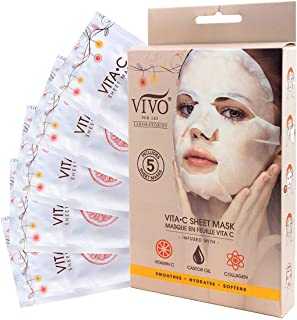 Sponsored Ad - Vitamin C Sheet Mask - Vitamin C Sheet Mask for Anti Aging - Mask with Collagen - Vitamin C Mask For Health...