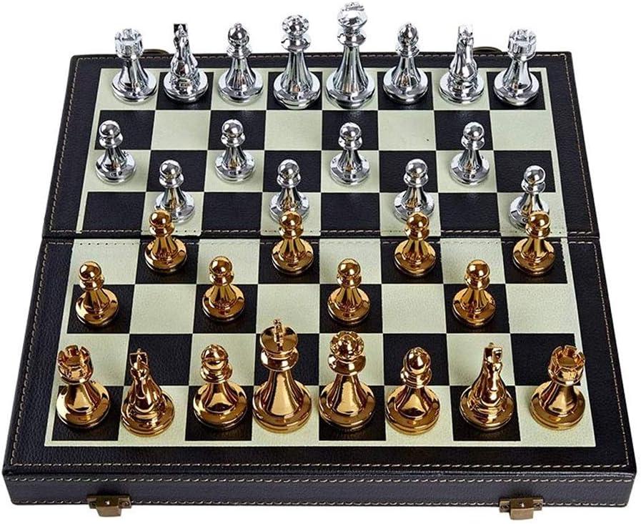 CHUNYAN Chess Set for Adults Foldable Metal Standard half Selling rankings