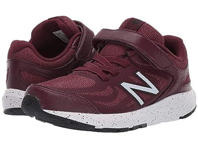New Balance Kids 519v1 (Little Kid/Big Kid) (NB Burgund/Black) Boys Shoes