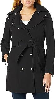 ژاکت بارانی کمربند سینه بند دو زنانه Calvin Klein با کاپوت متحرک