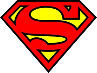 Superman Sheild Logo Iron On Transfer for T-Shirts & Other Light Color Fabrics #1 Divine Bovinity