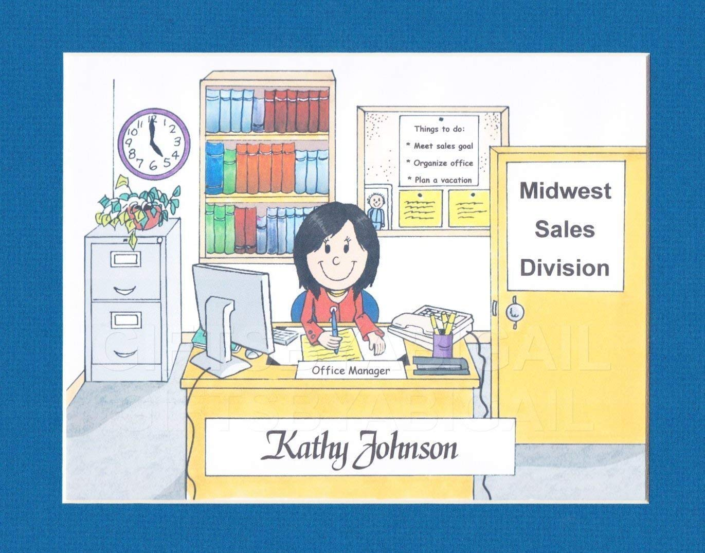 Secretary Gift Personalized Custom Cartoon Magn 2021new shipping free 9x12 8x10 New color Print
