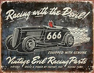 Racing with the Devil Tin Sign 13 x 16in