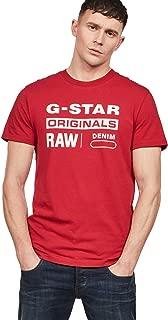 G-Star Raw Men's Graphic Logo 8 Short Sleeve Crew Neck T-Shirt