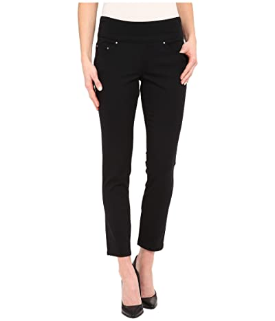 Jag Jeans Amelia Pull-On Slim Ankle Pants in Bay Twill (Black) Women