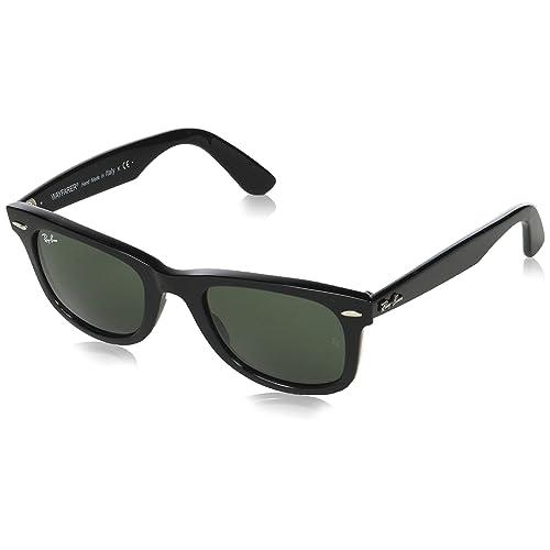 72b8e8aec2 Ray-Ban Unisex RB2140 Original Wayfarer Sunglasses 50mm